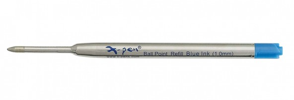 ball pen refill 1 pack (10 pcs) 98mm - Swiss tip, USA blue ink