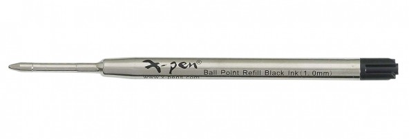 ball pen refill 1 pack (10 pcs) 98mm - Swiss tip, USA black ink