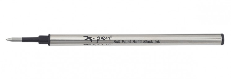 Metal roller refill, black ink ,metal case 1 pack (10 pcs) - German tip, German ink