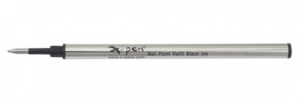 Metal roller refill ,black ink ,metal case 1 pack (10 pcs) - German tip, German ink